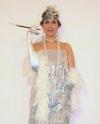 Costume Charleston Argento