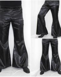 P17 - Costume Anni 70 Pantalone Raso Nero