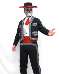 Costume Santa Muerte Uomo